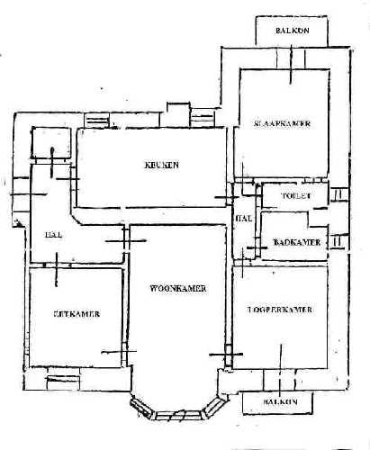 Plattegrond huis - Ingang van een huis ...